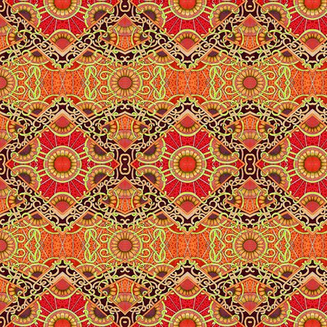 Sundown Sunflower fabric by edsel2084 on Spoonflower - custom fabric