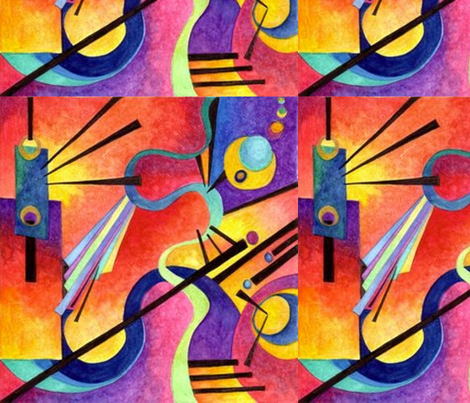 Kandinsky Inspired fabric by kathrynbrooks1 on Spoonflower - custom fabric