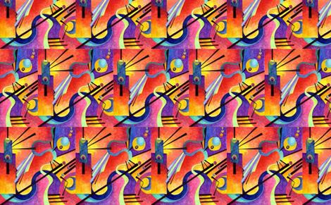 Kandinsky Inspired fabric by la_vie_est_belle on Spoonflower - custom fabric