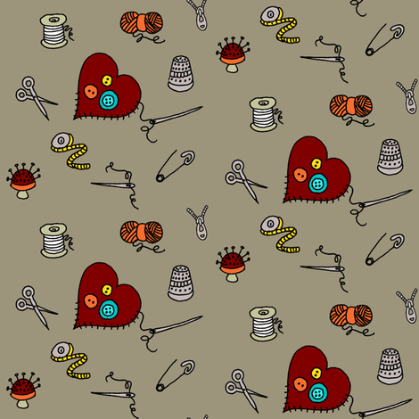 I've got the notion... fabric by kdl on Spoonflower - custom fabric
