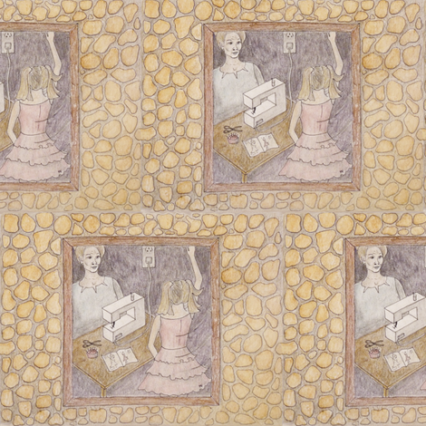 Handmade fairytale fabric by zandloopster on Spoonflower - custom fabric