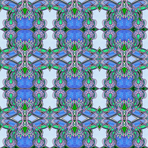 Stained Glass Blueberries fabric by edsel2084 on Spoonflower - custom fabric