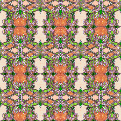 Florida Oranges fabric by edsel2084 on Spoonflower - custom fabric