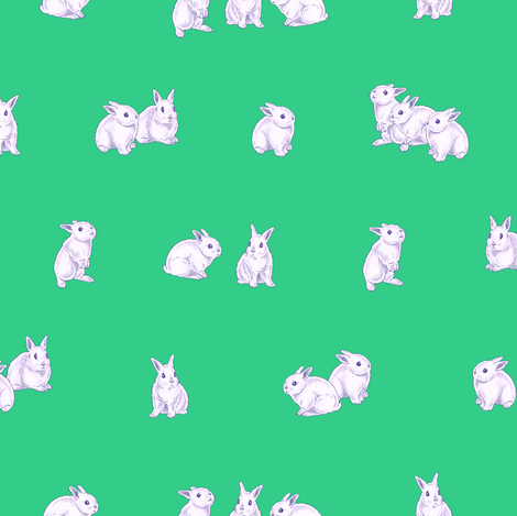 Bundles of Bunnies fabric by tenderlovingclaire on Spoonflower - custom fabric