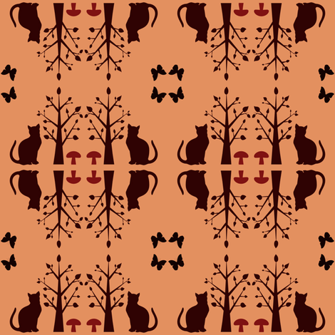 Toffee cats fabric by familypendragon on Spoonflower - custom fabric