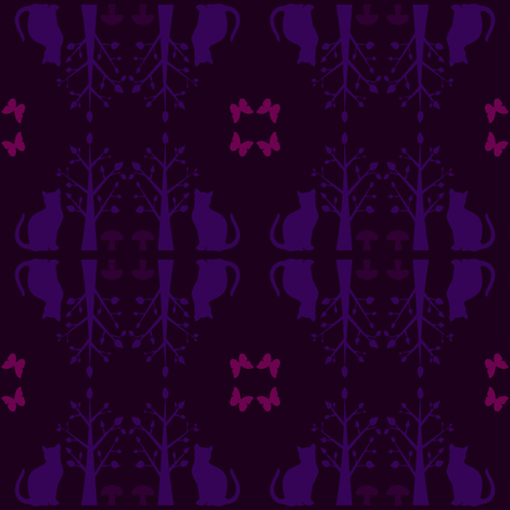Purple Cats fabric by familypendragon on Spoonflower - custom fabric