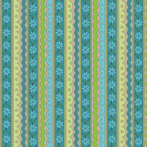 Blue Daisy Chain | Sewing Trim fabric by wildnotions on Spoonflower - custom fabric