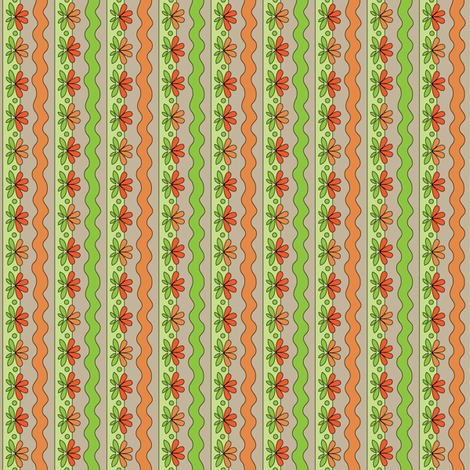 Orange Floral | Sewing Trim fabric by wildnotions on Spoonflower - custom fabric