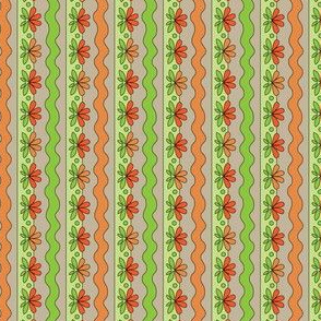 Orange Floral | Sewing Trim