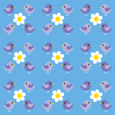 Hello Birdy Small v2.1 fabric by shelleymade on Spoonflower - custom fabric