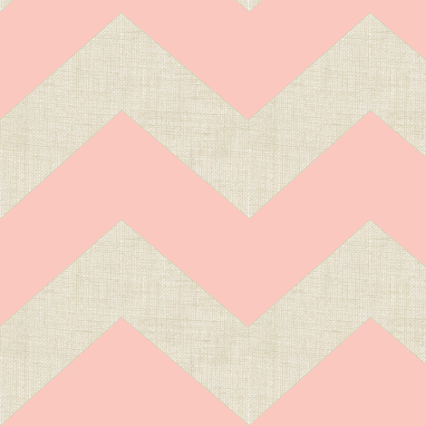 Chevron burlap / peach  fabric by paragonstudios on Spoonflower - custom fabric