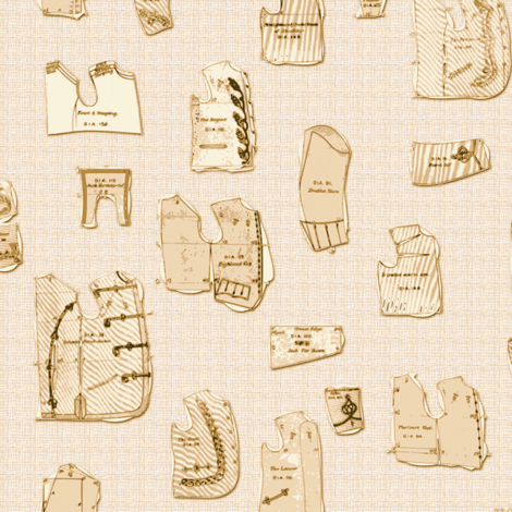 Victorian Boy's Jacket Patterns fabric by bonnie_phantasm on Spoonflower - custom fabric