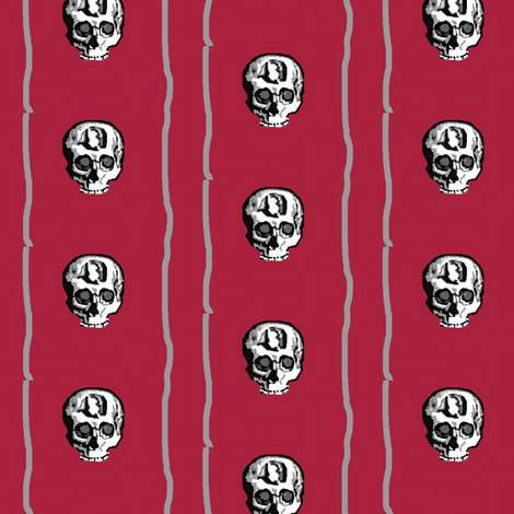 Stripes and Skulls fabric by robin_rice on Spoonflower - custom fabric