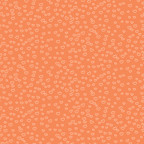 hearts_faint_orange fabric by owls on Spoonflower - custom fabric