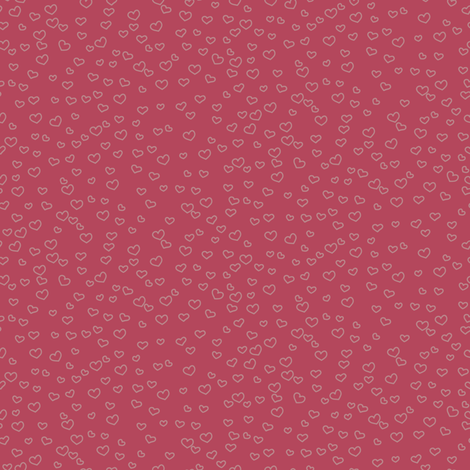 hearts_muted_red fabric by owls on Spoonflower - custom fabric