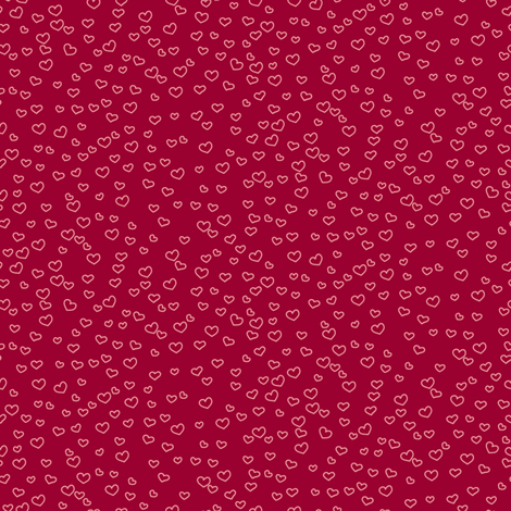 hearts_red fabric by owls on Spoonflower - custom fabric