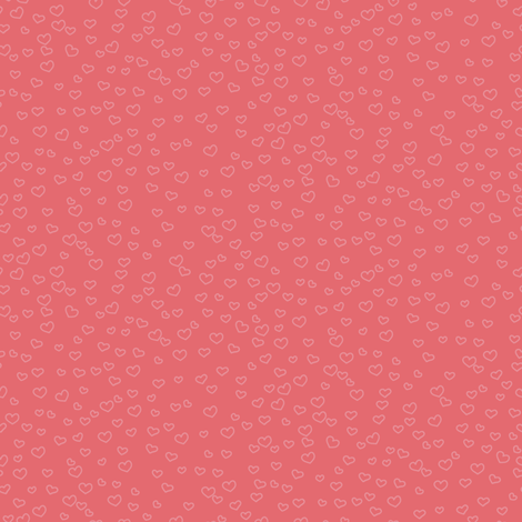 hearts_coral fabric by owls on Spoonflower - custom fabric