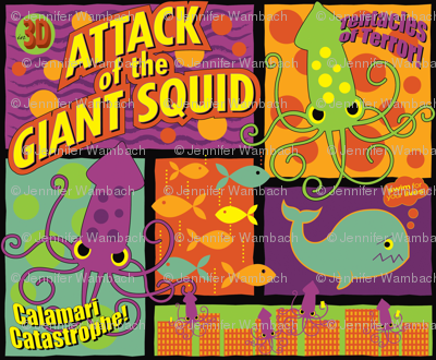 Squid Attack! (neon colorway)
