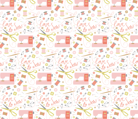 PHS-Love to Sew fabric by patternhillstudio on Spoonflower - custom fabric