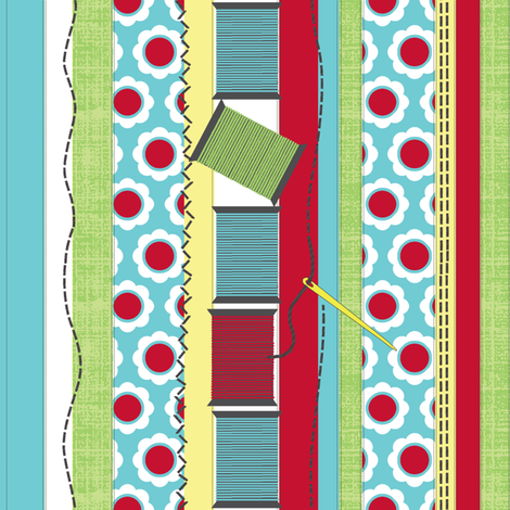 Sewing Stitches  fabric by littlerhodydesign on Spoonflower - custom fabric