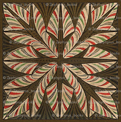 Antique Paper Design Pattern - Page 5 Square Repeat