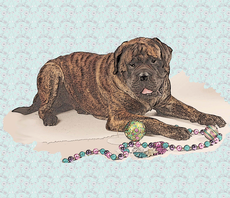 brindle mastiff large size