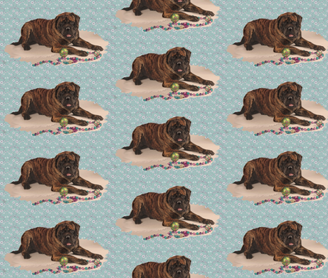 brindle Mastiff smaller fabric by dogdaze_ on Spoonflower - custom fabric
