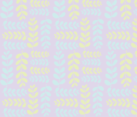 Olive Branches 2(lilac, lt. lime & lt. aqua) fabric by pattyryboltdesigns on Spoonflower - custom fabric