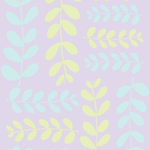Olive Branches 2(lilac, lt. lime & lt. aqua)