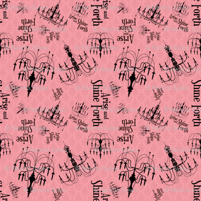 Arise and Shine Forth:  Pink All-Over Print