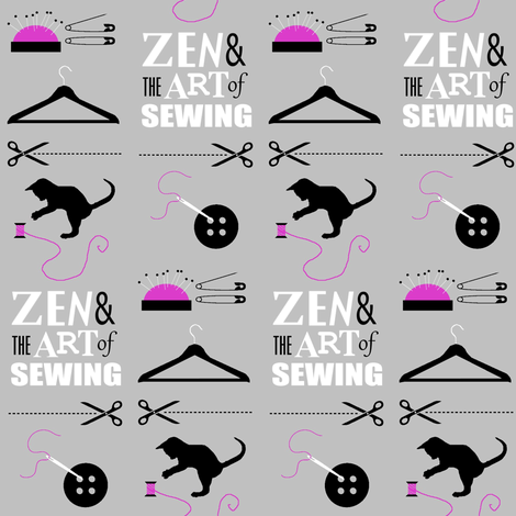 Zen & the Art of Sewing fabric by dervishheart on Spoonflower - custom fabric