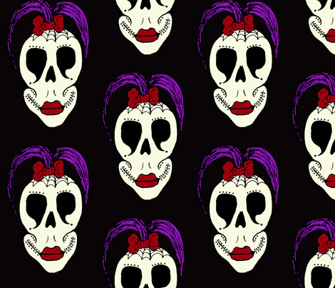 skullcoloured fabric by sharpestudiosdesigns on Spoonflower - custom fabric