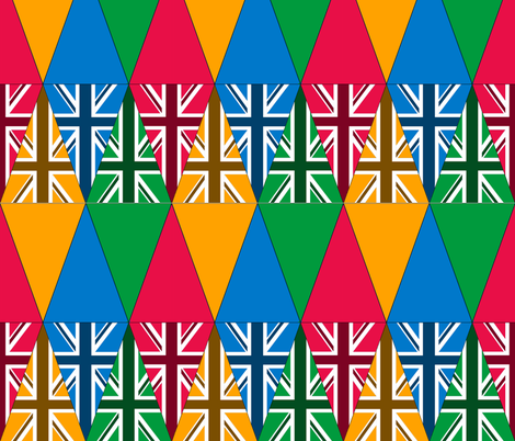Union Jack Bunting fabric by cison on Spoonflower - custom fabric