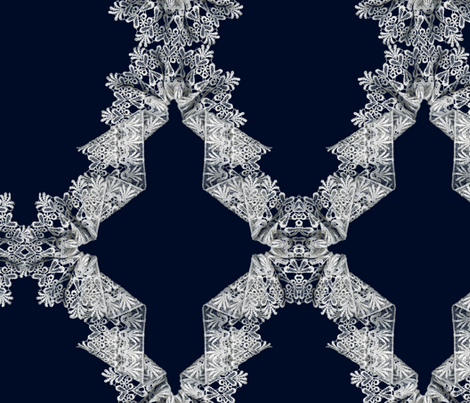 Navy & White Lace Trellice fabric by ryan_jude_novelline on Spoonflower - custom fabric