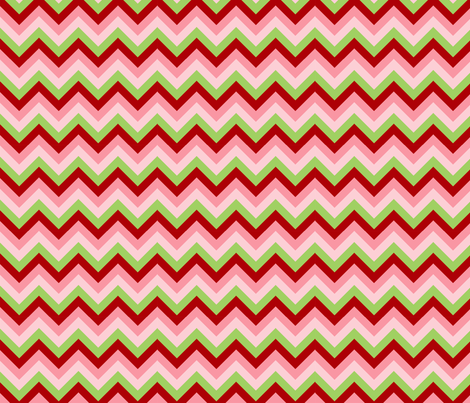 Pink Red Green Chevron fabric by cjldesigns on Spoonflower - custom fabric