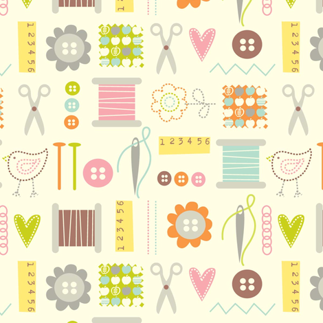 A stitch a day.... fabric by amel24 on Spoonflower - custom fabric