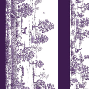 Purple Borders Greyhound Toile