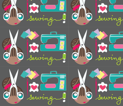 I Love Sewing! fabric by majobv on Spoonflower - custom fabric
