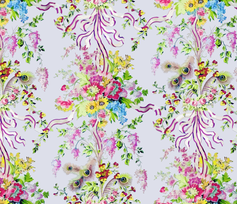 Rococo: Marie Antoinette's Boudoir - painted fabric by bonnie_phantasm on Spoonflower - custom fabric