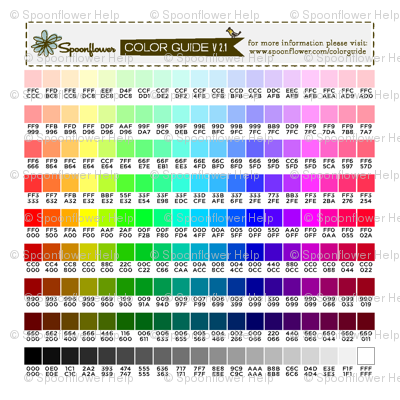 Spoonflower Color Guide v2.1