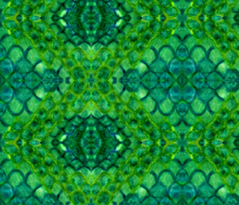 Green Glowing Scales fabric by kkriesel on Spoonflower - custom fabric