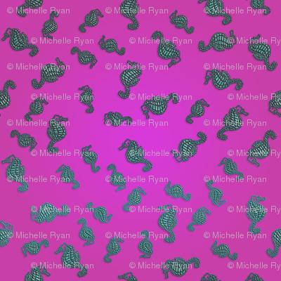 Aqua Seahorse Raspberry Seas