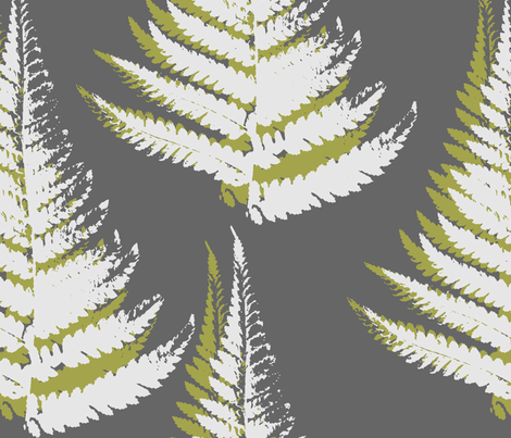Fern - eco green fabric by thecalvarium on Spoonflower - custom fabric