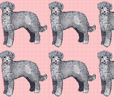 Portuguese Water Dog fabric by dogdaze_ on Spoonflower - custom fabric