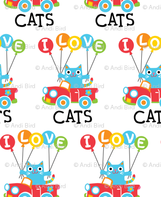I love cats - balloons