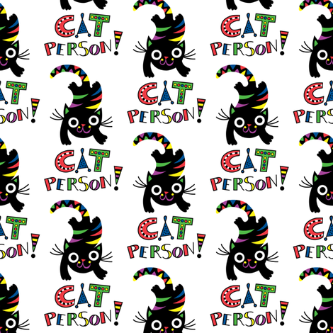 Cat Person - Fiesta fabric by andibird on Spoonflower - custom fabric