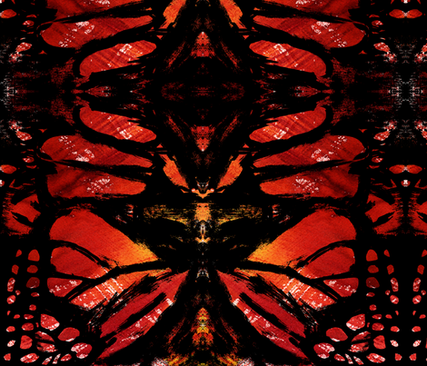 cestlaviv_monarch wings fabric by cest_la_viv on Spoonflower - custom fabric