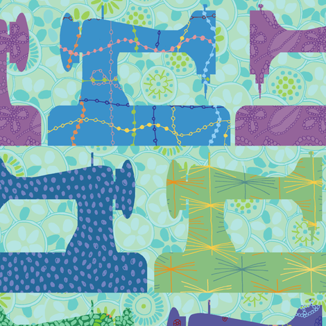 sewing machines fabric by jeannemcgee on Spoonflower - custom fabric