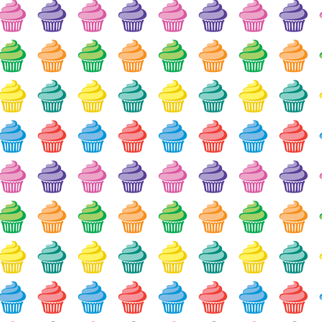 Cupcake Parade fabric by andibird on Spoonflower - custom fabric