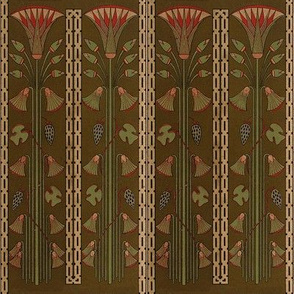 Antique Paper Design Pattern - Page 4 vertical repeating pattern